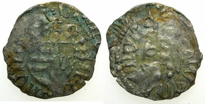 Ancient Coins - ROMANIA.VOIVODES OF WALLACHIA.Mircea cel Batan AD 1368-1418.AR.Dinar.Sigla W / P