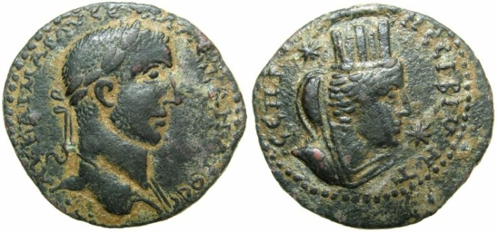 Ancient Coins - MESOPOTAMIA.NISIBIS.Severus Alexander AD 222-235.AE.28.2mm.~#~Bust of Tyche.