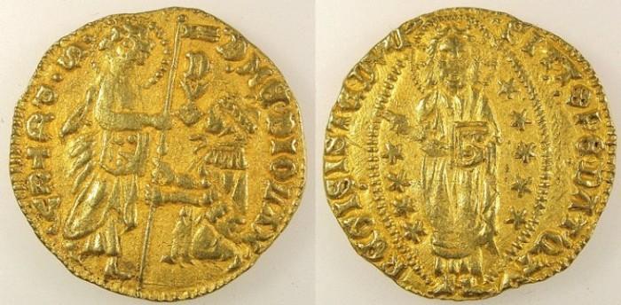 Ancient Coins - CRUSADER STATES.CHIOS.Filippo Maria Visconti 1421-1436.AV.Ducat.
