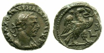Ancient Coins - EGYPT.ALEXANDRIA.Aurelian AD 270-275.Billon Tetradrachm, struck AD 272/73.~~~Large bust of Aurelian.