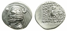 Ancient Coins - PARTHIA.Orodes II 57-38 BC.AR.Drachma.Mint of MITHRADATKART. ~~~NO WART ON FOREHEAD.