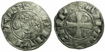 World Coins - CRUSADER.Principality of Antioch.Bohemond III or IV c.1149-1233.Bi.Denier.Class A2