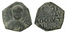 World Coins - CRUSADER STATES.Principality of ANTIOCH.Tancred AD 1104-1112.AE.Follis.1st type, large flan.