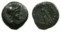 Ancient Coins - PTOLEMAIC EMPIRE.Ptolemey IV Philopater 221-205 BC.AE.15mm. Mint of ALEXANDRIA. Bust of Ptolemy in the guise of Ares?