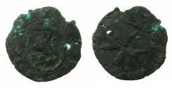 World Coins - MALTA.Jean Levesque de la Cassiera Grand Master AD 1572-1581.AE.Piccolo.