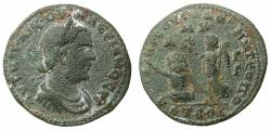 Ancient Coins - CILICIA.ANAZABUS.Valerian Senior AD 253-260.AE.28.6mm. struck AD 253/4.  Reverse.River god Pyramos crowned by Nike ***Very rare reverse type ***