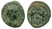 Ancient Coins - PHOENICIA.BERYTUS.Gordian III AD 238-244.AE.20mm. ~#~. Two eagles on columns.