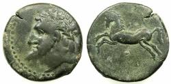 Ancient Coins - NUMIDIA.Massinissa or Micipsa circa 203-148-118 BC.AE.26.6mm.