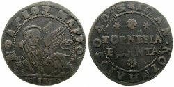 World Coins - GREECE.CRETE under VENICE.Doge Giovanni Corner AD 1625-1629.AE.60 Tornesi ( 4 Soldi ).N.D.