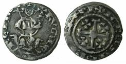 World Coins - CRUSADER STATES.CYPRUS. Hugh IV 1324-1359.AR.Gros Petit. Obvese HVGUE for HVGVE