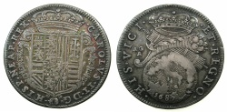 World Coins - ITALY.Kingdom of NAPLES.Charles II 2nd period as king of Naples 1674-1700. AR.Tari 1687.