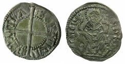 World Coins - ITALY.Patriachy of AQUILEIA.Betrando de San Genesio 1334-1350.AR.Denaro.