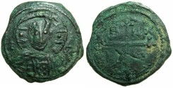 World Coins - CRUSADER STATES. ANTIOCH.Tancred AD 1104-1112.AE.Follis.4th type~~~Facing bust of Christ.