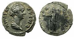 Ancient Coins - ROME.Diva Faustina Senior died AD 140/1, struck under Antoninus Pius AD 146-161.Reverse.Fortuna.