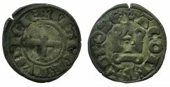 World Coins - FRANCE.PROVENCE.MARQUISAT DE PROVENCE.Alphonse of Potiers AD 1249-1271.Billon Denier. RARE.