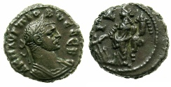 Ancient Coins - EGYPT.ALEXANDRIA.Probus AD 276-282.Billon Tetradrachm, struck AD 278/279.~#~.Tyche standing.