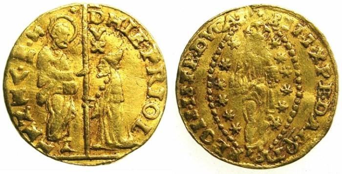 Ancient Coins - ITALY.VENICE.Gerolamo Prioli  AD 1559-1567.AV.Zecchino.