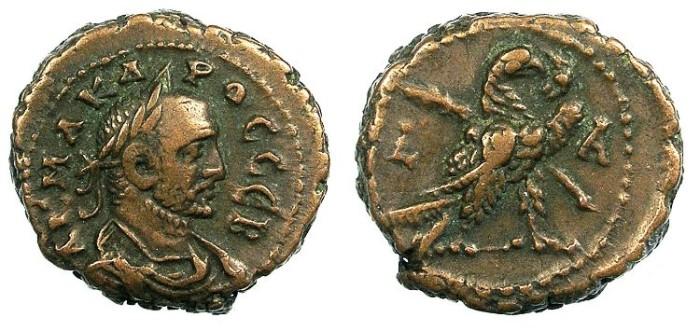 Ancient Coins - EGYPT ALEXANDRIA.Carus AD 282-283.Bi.Tetradrachma.Eagle