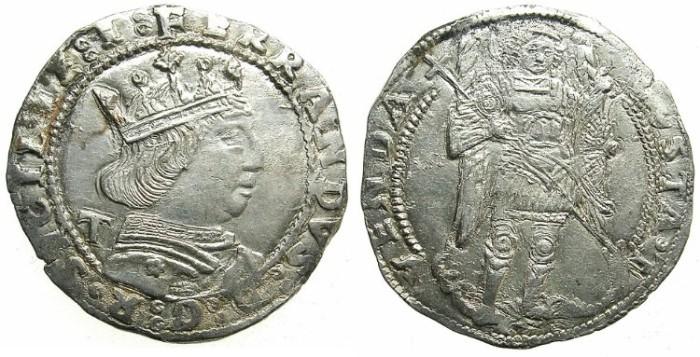 Ancient Coins - ITALY.NAPLES.Ferdinand I ( Ferrante ) AD 1458-94.AR.Coronato.Superb Renaissance coin.