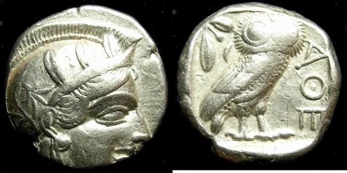Ancient Coins - ATTICA ATHENS. AR Tetradrachm .struck after 449 BC. ATHENA.OWL