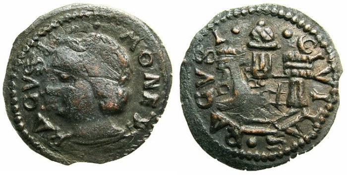 Ancient Coins - ITALY.RAGUSA under VENICE.AE.Follaro.Anonymous issue struck circa AD 1562.
