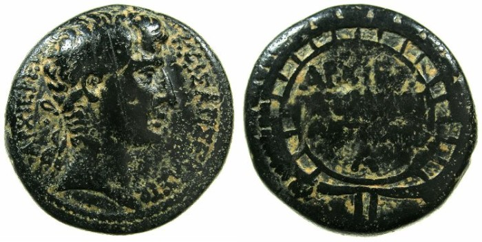 Ancient Coins - SYRIA.SELEUCIS AND PIERIA.ANTIOCH.Augustus 27BC -  AD 14.AE.As?.Struck year 30 ( 2/1 BC ) of The Actian Era