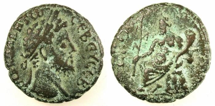 Ancient Coins - EGYPT.ALEXANDRIA.Commodus AD 176-192.Bi.Tetradrachm.~#~.Nilus seated on rocks.