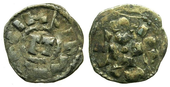 Ancient Coins - CRUSADER.1st crusade:preferred coinage.LUCCA.12th cent.AD.Bi.Denier.