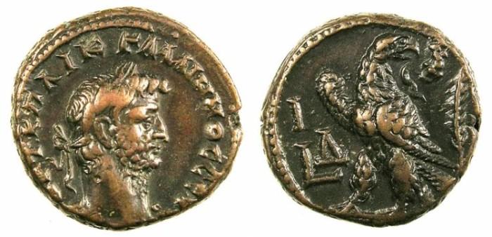 Ancient Coins - EGYPT.ALEXANDRIA.Gallienus AD 261-268.Bi.Tetradrachm.Rev.Eagle