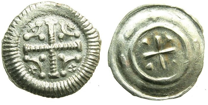 Ancient Coins - HUNGARY.Anonymous issue..AR.Dinar.12th Cent