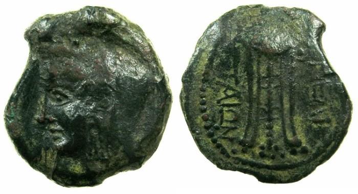 Ancient Coins - MELTA ( MALTA).Circa 150-146 BC.AE.21mm.~~~Vieled female head.~#~.Tripod