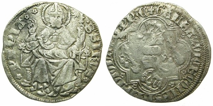 Ancient Coins - ITALY.PAVIA.Galeazzo II Visconti, Lord of Pavia AD 1359-1378.AR.Pegione ( or Grosso).