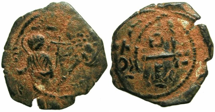 Ancient Coins - CRUSADER.ANTIOCH.Tancred AD 1104-1112.AE.Follis.3rd type.Saint Peter standing