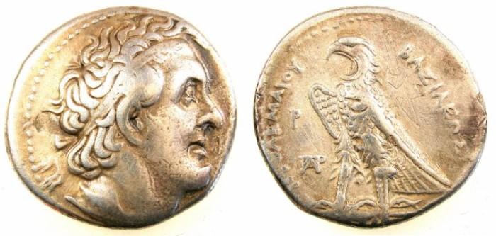 Ancient Coins - PTOLEMAIC EMPIRE.EGYPT.ALEXANDRIA.Ptolemy I Soter c.323-283.AR.Tetradrachm.