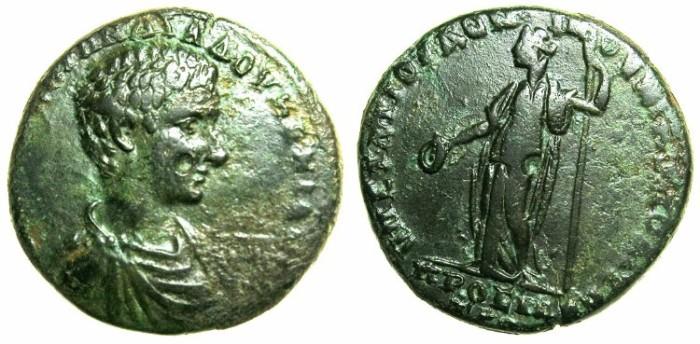 Ancient Coins - MOESIA INFERIOR.NIKOPOLIS AD ISTRUM.Diadumenian Caesar AD 217-218.AE.25.5mm.~#~.Hera standing.
