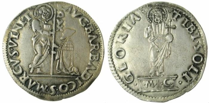 Ancient Coins - ITALY.VENICE.Agostino Barbarigo AD 1486-1501.AR.Mocenigo ( Lira ).