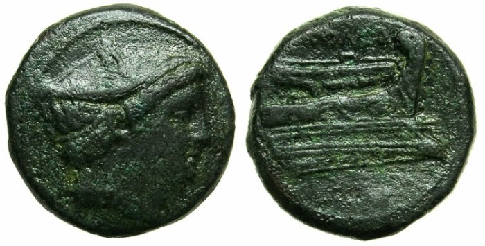 Ancient Coins - ROME.REPUBLIC.Anonymous issue struck Circa 217-215 BC.AE.Semuncia.