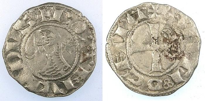 Ancient Coins - CRUSADER.Principality of Antioch.Bohemond III or IV c.1163-1233.Bi.Denier.class E
