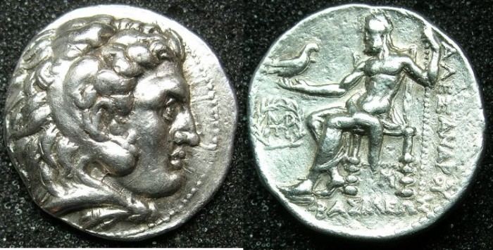 Ancient Coins - MACEDONIAN EMPIRE.Alexander III The Great 336-323 BC.AR.Tetradrachm. struck c.311-c.305 BC.Mint of Babylon.