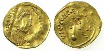 Ancient Coins - BYZANTINE EMPIRE.Constans II AD 641-668.AR.Semissis.Mint of CONSTANTINOPLE.