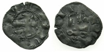 World Coins - CRUSADER.Principality of ACHAIA.Mahault of Hainault AD 1316-1321.Bi.Denier.Type 3b