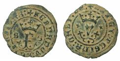 World Coins - SPAIN.Reys Catolicos.Fernado V e Isabel I AD 1469-1504.AE.Blanca.Mint of SEVILLE.