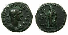 Ancient Coins - EGYPT.ALEXANDRIA.Probus AD 276-282.Billon Tetradrachm.AD 277/278. Reverse. Elpis standing.
