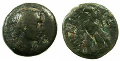 Ancient Coins - EGYPT.ALEXANDRIA.Augustus 27BC-AD14.AE.80 Drachmas. ****The First Roman coin for Egypt ****