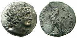 Ancient Coins - PTOLEMAIC EMPIRE.EGYPT.ALEXANDRIA.Cleopatra III and Ptolemy IX Soter II 116-107 BC.AR.Tetradrachm.struck 116 BC. ***RARE FIRST YEAR OF JOINT REIGN ****