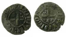 World Coins - FRANCE.LANGRES.Bishopric.Billion Denier.13th cent  AD.Anonymous issue, immobolized type in the name of Louis IV of Outremer ( AD936-54).