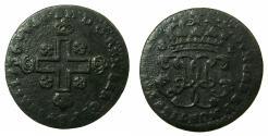 World Coins - ITALY.SARDINIA.Carlo Emanuele III 1730-1773.AE.1 Soldo  1736.Mint of TURIN.