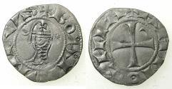World Coins - CRUSADER STATES.Principality of ANTIOCH. Bohemond III or IV c.1149-1233 Bi.Denier. Class F .