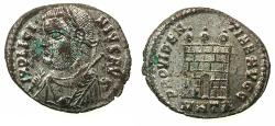 Ancient Coins - ROMAN.Licinius I AD 308-324.AE.Follis.Mint of Heraclea, 1st officina. Coin retains much silvering.