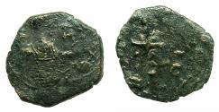 Ancient Coins - BYZANTINE EMPIRE.Manuel I Comnenus AD 1143-1180.AE.Tetarteron. Mint of THESSALONIKA. Cross on steps.